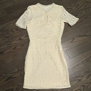 Ivory crochet lace H&M dress